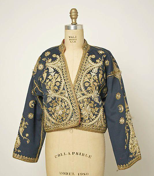Turkish Jacket, ca. 1900 . wool, cotton, metal