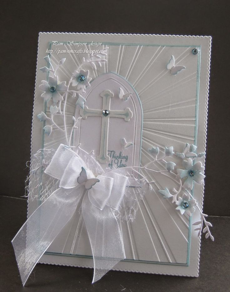 This could be a sympathy card or any religious card. It is so beautiful.