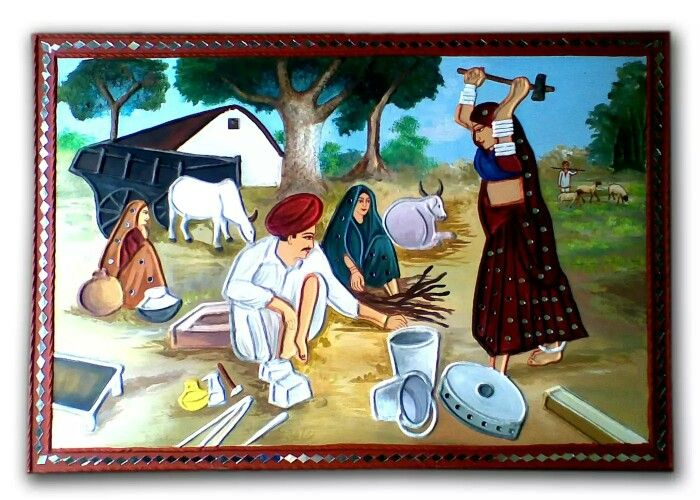 1000 images about mural indian village life examples on for Mural village