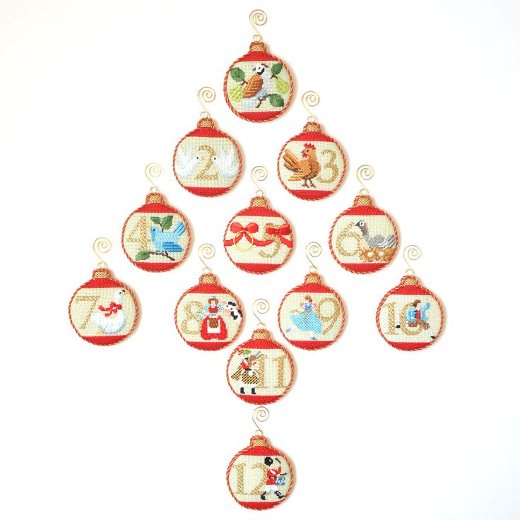 12 Days Baubles by Kirk & Bradley - showstopper needlepoint kits | Needlepoint Kits | Pinterest | Needlepoint, Needlepoint kits and Christmas