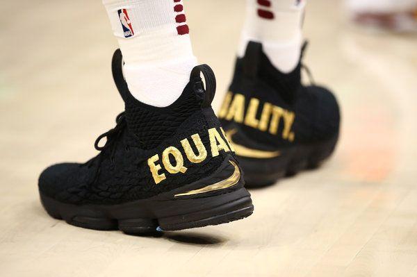 King James let his feet do the talking during the NBA season opener.