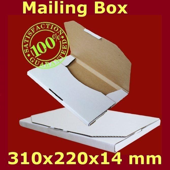 200 310x220x16mm Mailing Box Rigid Envelope Mailer Cardboard Large Letter stamp in Business, Postal Supplies, Boxes   eBay