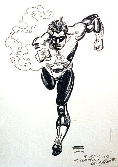 Gil Kane Green Lantern Comic Art
