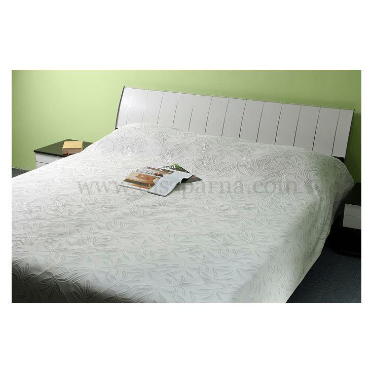 LAURA BÉZS LEVELES ágytakaró 160x260/240x260 cm, Díszpárna.com Webáruház