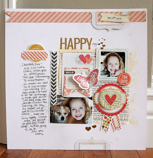 #papercraft #scrapbook #layout  Featuring the Cottage Farms line, She Art printed coffee filters, and the Luxe line by Pink Paislee, created by Danielle Flanders.