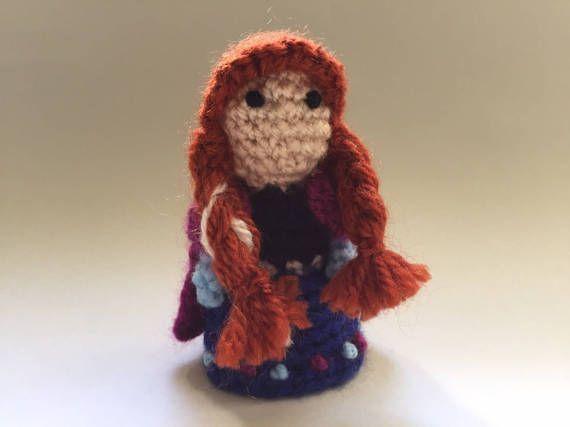 Anna Frozen crochet DollHandmadeCrochet DollMini amigurumi