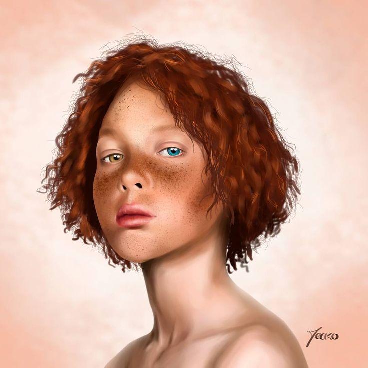 """79 Me gusta, 1 comentarios - Jerson Cerpa """"Jecko"""" (@jecko_jc) en Instagram: """"Práctica de color digital #portraitdigital #portrait #pecoso #ilustration #ilustrationdigital…"""""""