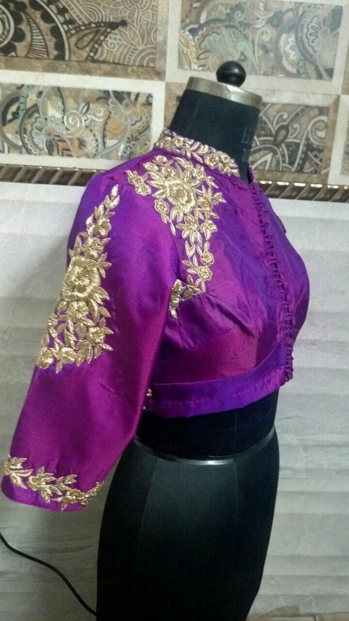 Intricate dabka work blouse