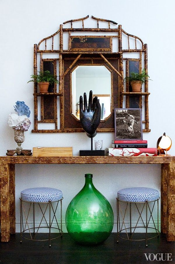 Vogue | Entryways | Vignette styling
