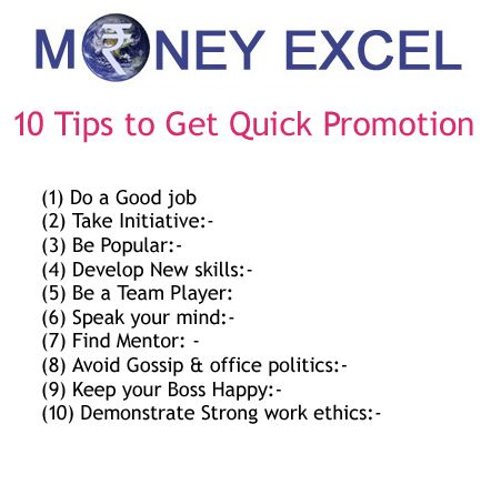 How to get quick promotion or salary rise? Well if you are stuck with current job position and seeking help to get quick promotion this tips can help.