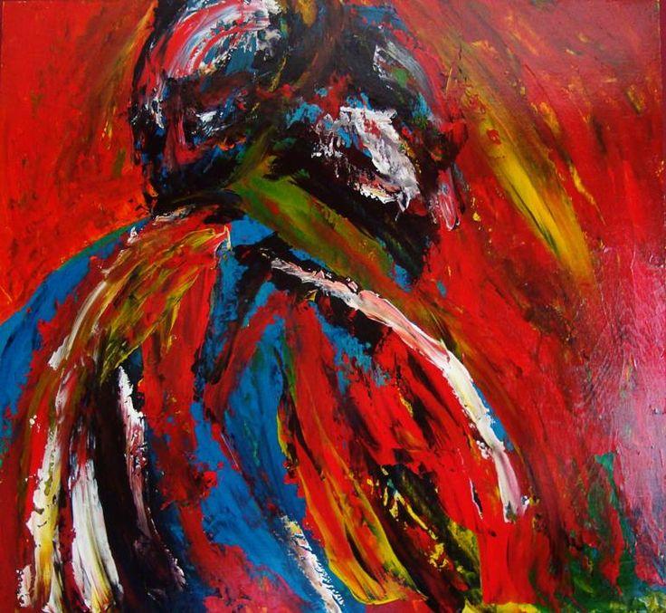 "Saatchi Art Artist David Anthony Gentry; Painting, ""The Embrace"" #art"