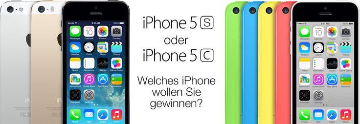 Hier kannst du das neue iPhone gewinnen. Du hast sogar die Wahl zwischen dem 5S und 5C und der Farbe!