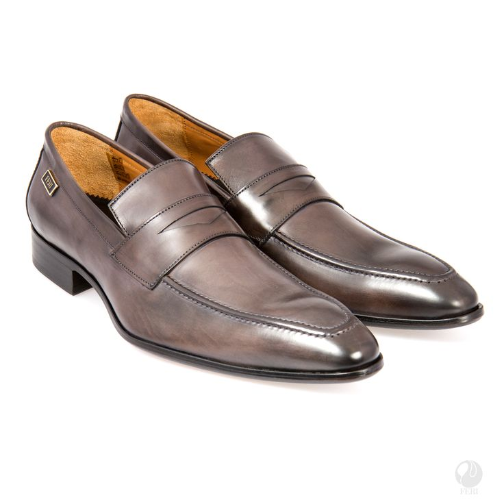 FERI - Luis - Shoes - Grey - Mens genuine leather penny loafer - Real cow hide leather upper with leather sole - Custom sole imprint with FERI design - Hand brushed leather creates unique look - Colour: Taupe - Heel height: 0.98 inches - Hardware plate: 0.79 inches x 0.28 inches  Claim your Free $100 Gift check    http://www.gwtcorp.com/ghem or  email  fashionforghem.com for big discount