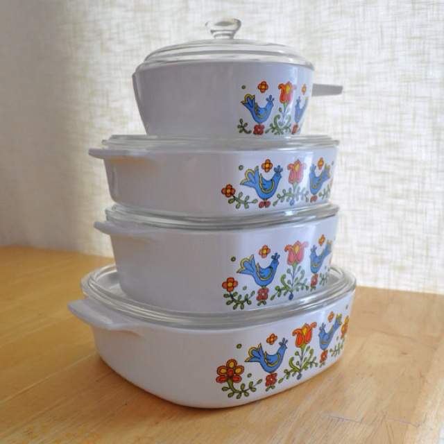Vintage Bird Corning Ware 40 Pc Set Pattern Is Called Country Delectable Corningware Dishes Patterns