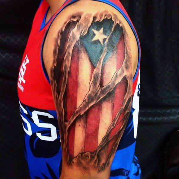 50 Puerto Rican Flag Tattoo Ideas For Men Puerto Rico Designs Puerto Rican Flag Flag Tattoo Puerto Rico Tattoo