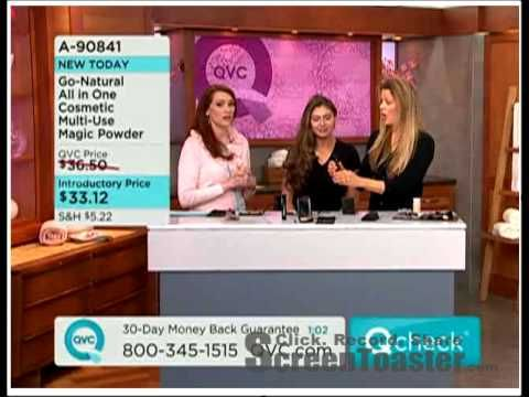 On QVC Shopping Channel Go Natural The All In One Cosmetic Magic Powder Makeup - YouTube