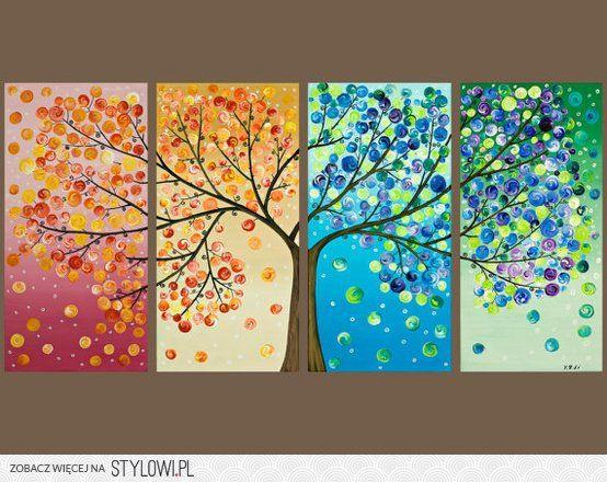drzewo 4 pór roku- guziki
