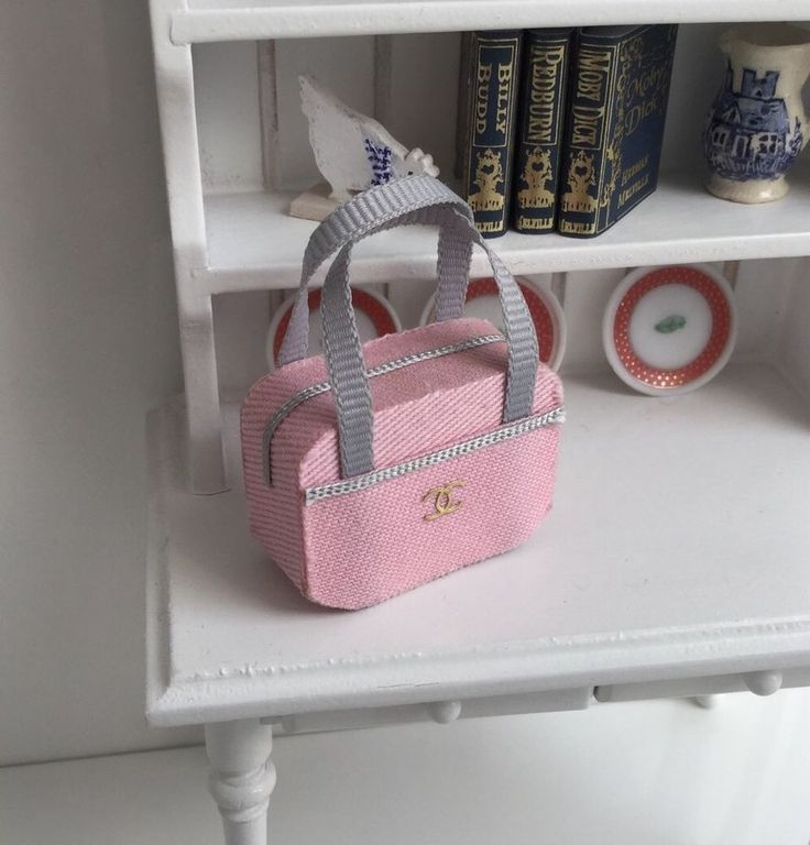 unknown artist - Pink & Gray Designer Cosmetic Bag