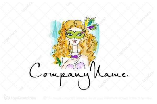 Logo for sale: Masked Girl Logo