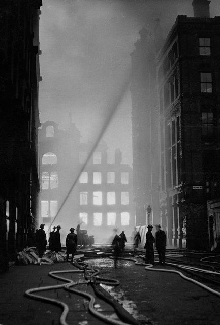 Manchester Christmas Blitz 1940 photo from Greater Manchester Police
