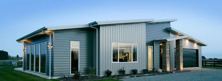 House Designs With Vertical Metal Cladding: Metal Facade