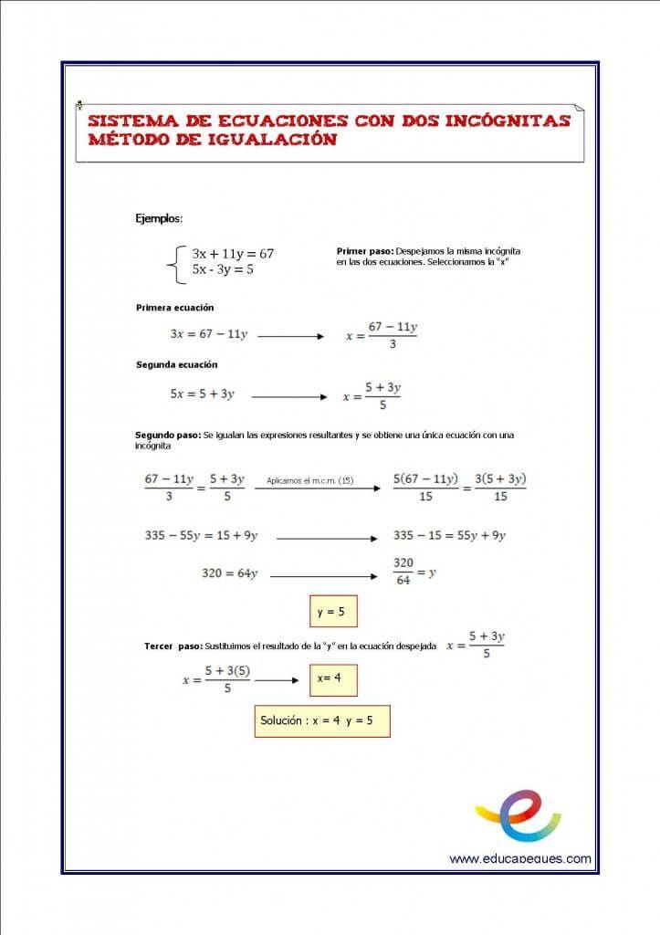 Sistemas De Ecuaciones Matematicas Secundaria Eso Matematicas Eso Ejercicios De Matematicas Ficha Sistemas De Ecuaciones Secundaria Matematicas Ecuaciones
