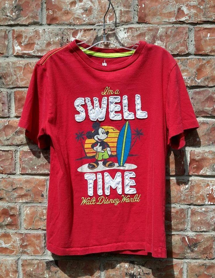 Walt Disney Mickey Mouse Surfer T'Shirt  Pullover Kids Unisex Boy Girl Size 6/7 | Collectibles, Disneyana, Contemporary (1968-Now) | eBay!