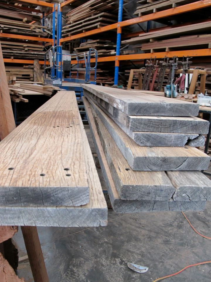This Blackbutt timber has been retrieved from the demolished Goulburn Wool Store built in the early 40's.