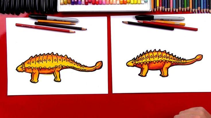 How To Draw Een Ankylosaurus