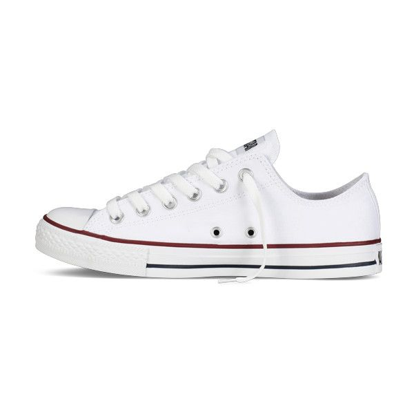 White Chuck Taylor All Star Shoes : Converse Shoes | Converse.com (€45) ❤ liked on Polyvore featuring shoes, sneakers, converse, chaussures, converse sneakers, white trainers, converse trainers, star shoes and white sneakers