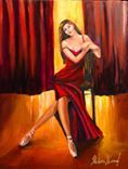 """'Just finished adding a few details to my new one,  """"ON THE STAGE"""" #art #painting #artist #dance'"""
