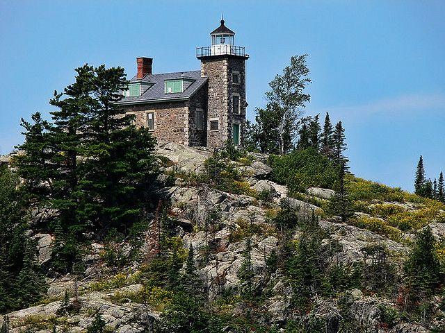 El faro de la isla de Huron, lago Michigan....