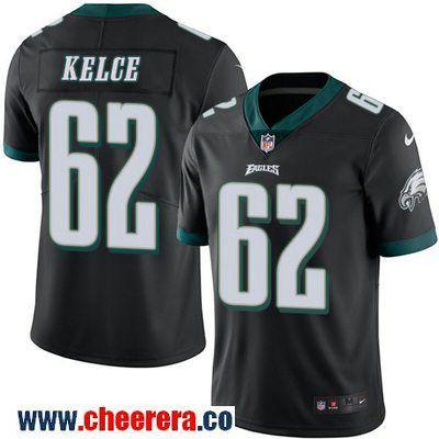Men's Philadelphia Eagles #62 Jason Kelce Black 2016 Color Rush Stitched NFL Nike Limited Jersey