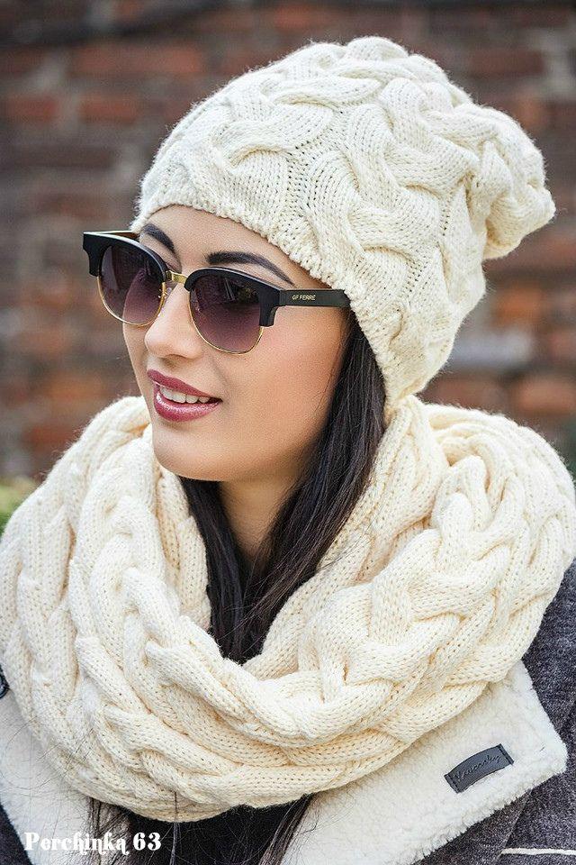 Шапка *Джейни* и шарф хомут широкими косами. Обсуждение на LiveInternet - Российский Сервис Онлайн-Дневников