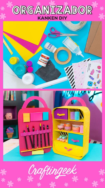 Mochila Kanken: Organizador de escritorio de cartón — Craftingeek Diy Origami, Mochila Kanken, Ideas Para, Toy Chest, Diy And Crafts, Projects To Try, Tabata, Youtubers, Creative Crafts