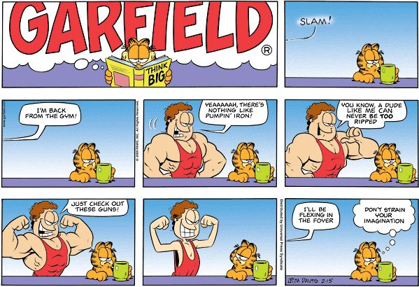 Workout #LOLs from Garfield comics