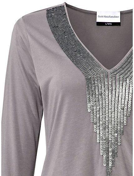 Koop Guido Maria Kretschmer - Longline-shirt taupe in de Heine online-shop