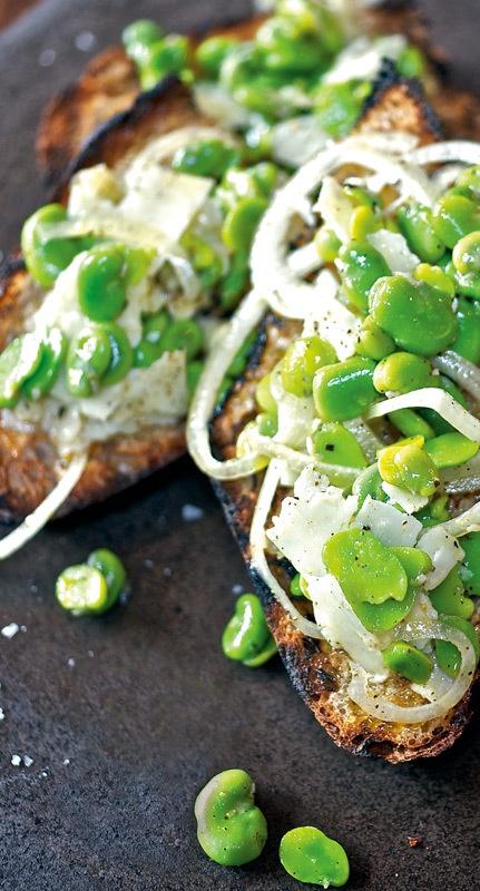 fava-beans-with-bruschetta   Recipes - mains + sides   Pinterest
