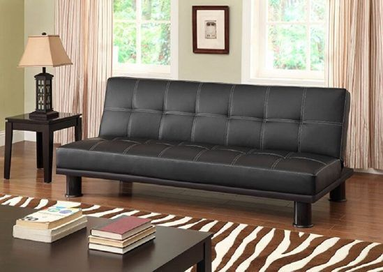 Primo International Phyllo Convertible Faux Leather Bed - comfortable sleeper sofa