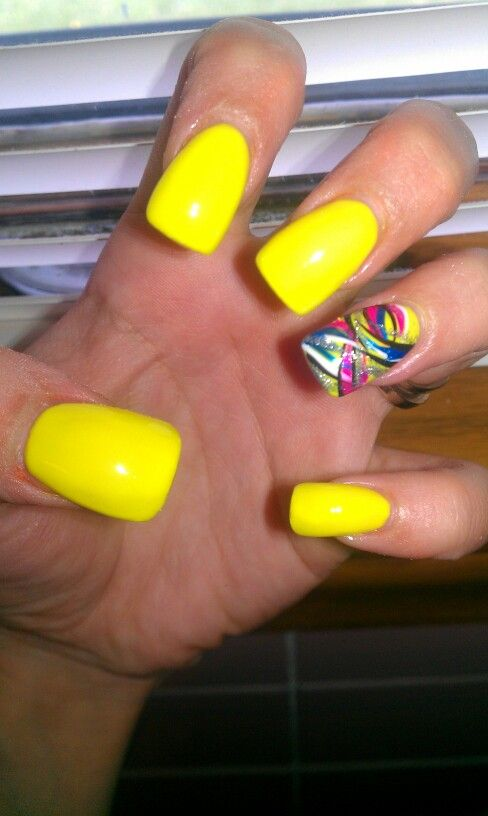 Yellow nails | Nails I've done :) | Pinterest
