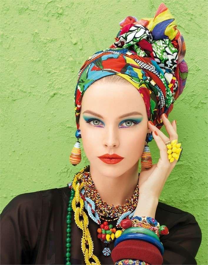 Come indossare il foulard, idee originali - Foulard messi come turbanti