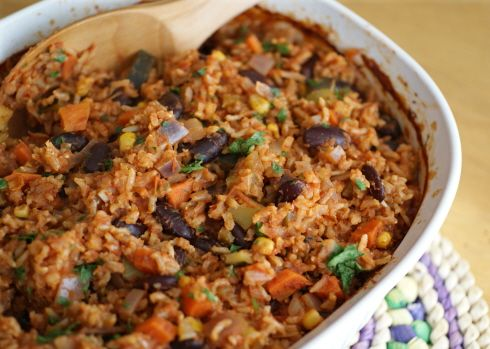 Dr. Ornish, You Stole My Heart: Seven Grain Dirty Rice and Beans