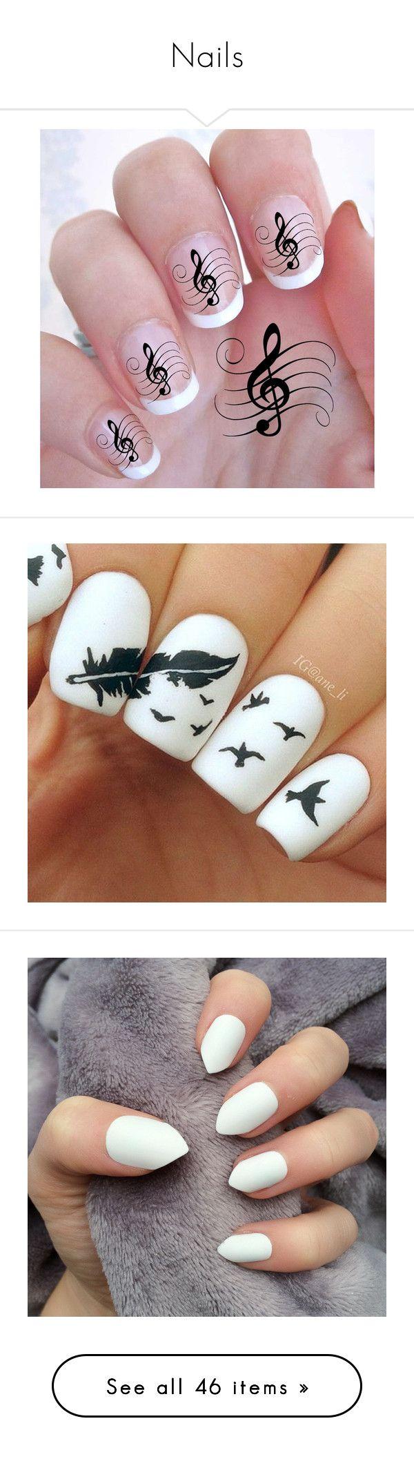 """Nails"" by emo-kyleigh ❤ liked on Polyvore featuring beauty products, nail care, nail treatments, nails, makeup, beauty, nail polish, nail art, bath & beauty and grey"