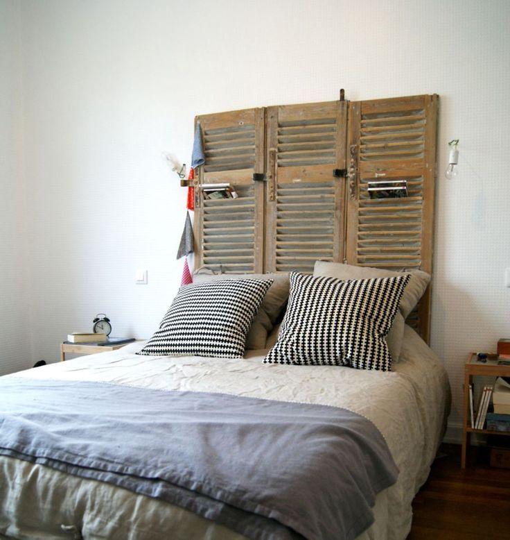 17 meilleures id es propos de t tes de lit volets sur - Modele de tete de lit a faire soi meme ...