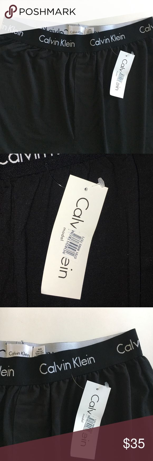 """SALE🎉New! Calvin Klein Lounge Pants Brand New! No Flaws. Tag Still Atached. Super Soft almost slinky material:) measurements W:13"""" L:41"""" purchased at Nordstrom $45 ( including tax) Unisex.  Black Calvin Klein Underwear Pants Sweatpants & Joggers"""
