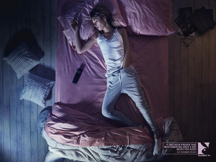 Great-Ads: New PlayBoy TV Print Ads Claim Touching Yourself Daily Will Help You Sleep