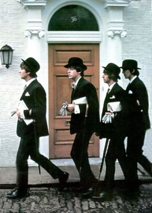 John Lennon, Paul McCartney, Richard Starkey, and George Harrison (Fab Four in London)