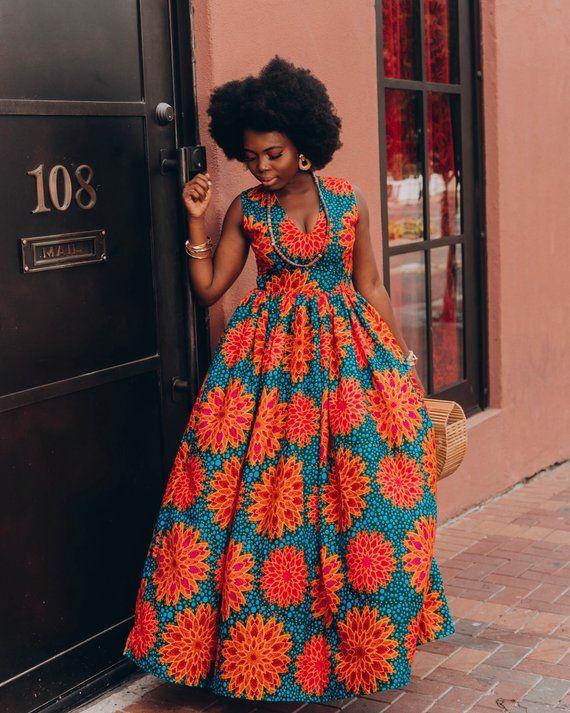 Ankara Dress African Clothing African Dress African Print Etsy African Maxi Dresses African Fashion African Fashion Women Clothing