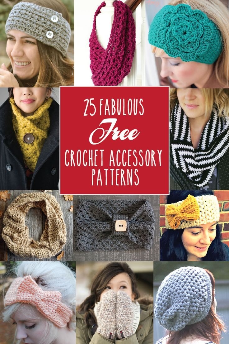 25 Fabulous Free Crochet Accessories - Free Crochet Patterns - (flamingotoes)