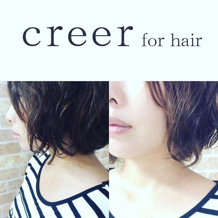 デジタルパーマでしっかり目にパーマかけさせていただきました(o) #creer_for_hair #美容室#鹿児島市#鴨池 #デジパ #ムース仕上げ